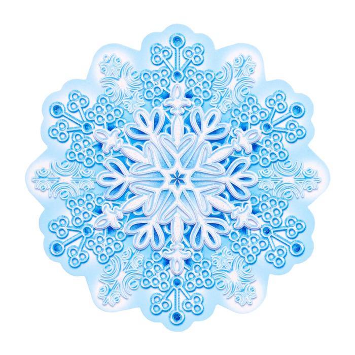 Украшение на скотче Снежинка 1 , глиттер
