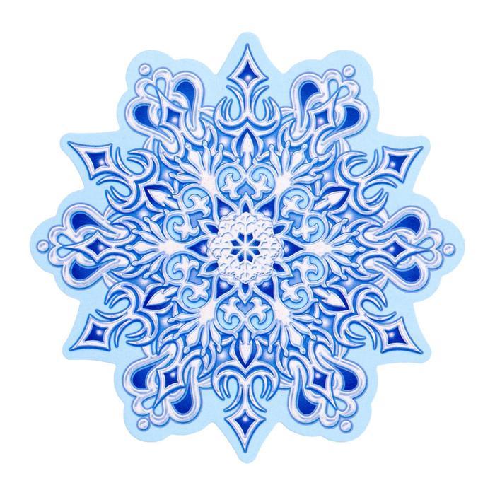 Украшение на скотче Снежинка 3 , глиттер