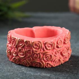 Подставка под мелочи 'Шкатулка из роз'  чайная роза 6х5х3см Ош