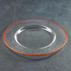 Тарелка подстановочная «Фишер», d=35 см, обводка цвет медь