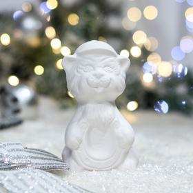 "Фигурка-раскраска ""Тигрёнок мальчик"", символ года 2022, керамика, 12 см"