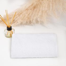 Полотенце махровое с греческим гордюром 40х70 см, цвет белый, хлопок 100%, 480г/м2