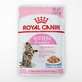 Влажный корм RC Kitten Sterilised, для стерилизованных котят, в желе, 85 г