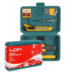 Набор инструментов в кейсе LOM, подарочная упаковка, 11 предметов Ош