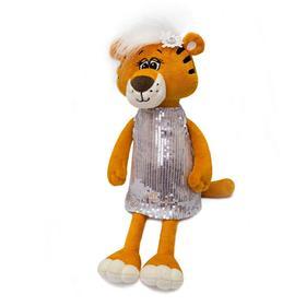 Мягкая игрушка «Тигрица Тэффи в платье», 30 см