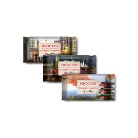 Влажные салфетки BioCos «Столицы мира» Лондон, Токио, Москва микс,15 шт