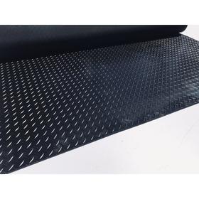 Рулонная резиновая дорожка «Ёлочка», размер 1х10 м, толщина 3 мм, цвет чёрный