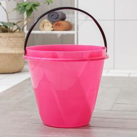 Ведро «Лайт», 13 л, цвет розовый