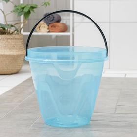 Ведро «Лайт», 13 л, цвет прозрачный голубой
