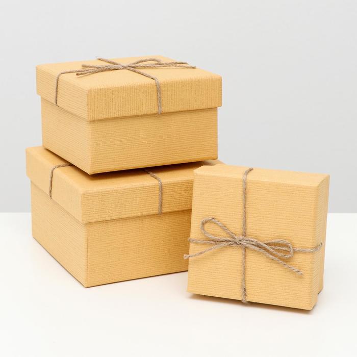 Набор коробок 3в1 Крафт 13х13х8 см