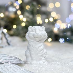 """Фигурка-раскраска """"Тигр"""", символ года 2022, керамика, 9.5 см"""