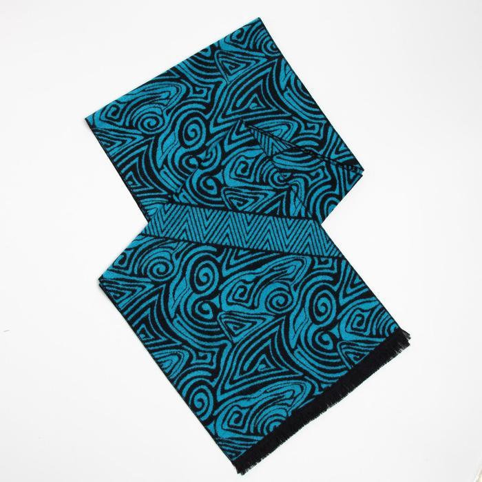 Шарф текстильный D469_88-1 цвет чёрно-синий, р-р 33180