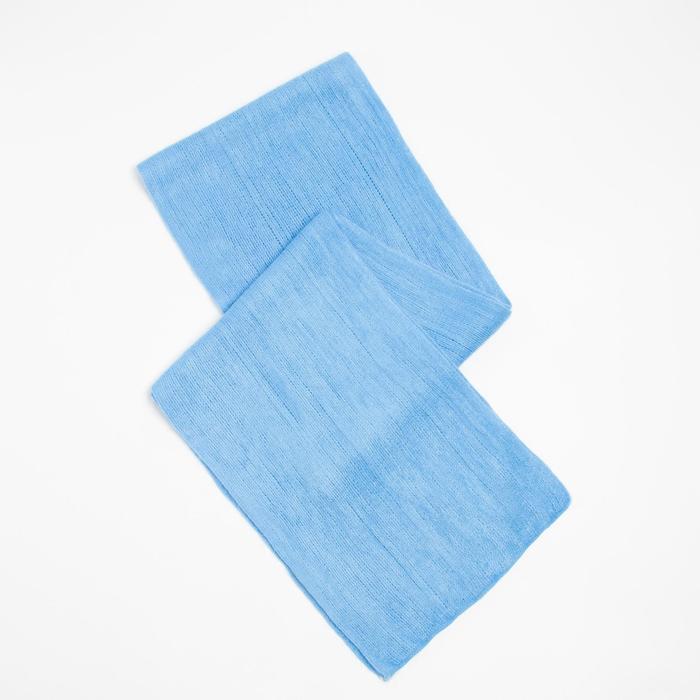 Шарф трикотажный V2727_B34 цвет голубой, р-р 23160