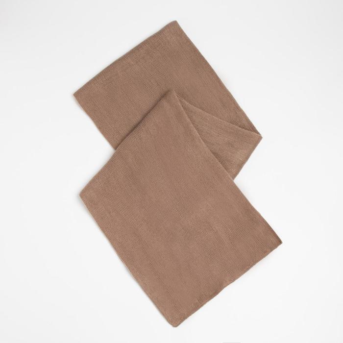 Шарф трикотажный V2727_B98 цвет светло коричневый, р-р 23160