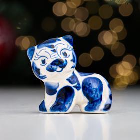Сувенир 'Тигр Танзай', 5,5 см, гжель Ош