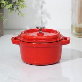 Кастрюля для подачи Volcano, 330 мл, 14×11×8,5 см, цвет красный