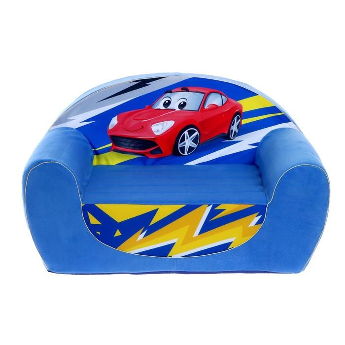 Мягкая игрушка Диван гоночная машинка, не раскладной