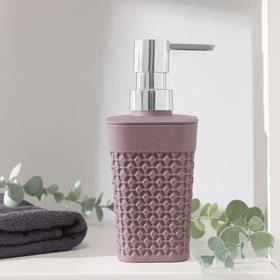 Дозатор для жидкого мыла Oslo, 400мл, 7,5×5,8×16,6 см, цвет черничный морс Ош