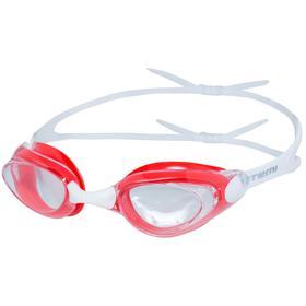 Очки для плавания Atemi B402, силикон, цвет белый, красный Ош