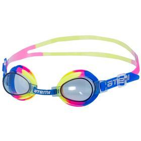 Очки для плавания Atemi S302, детские, PVC/силикон, цвет разноцветный Ош