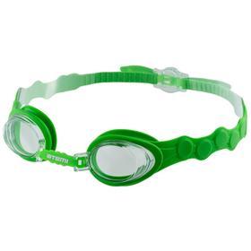 Очки для плавания Atemi S403, детские, силикон, цвет салатовый Ош