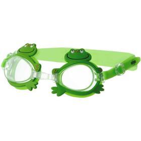 Очки для плавания Novus NJG-101, детские, цвет зелёный «лягушка» Ош
