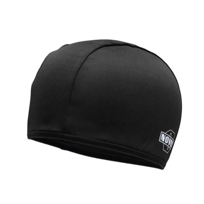 Шапочка для плавания NOVUS NPC-20, полиэстер, чёрная