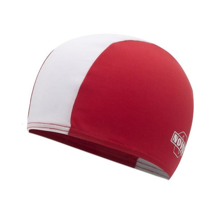 Шапочка для плавания NOVUS NPC-41, полиэстер, красная, белая