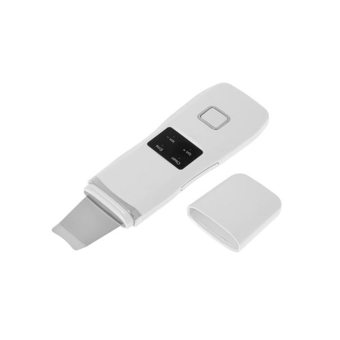 Аппарат Bradex KZ 0401, для ультразвуковой чистки лица, 3 Вт, 3 режима, белый