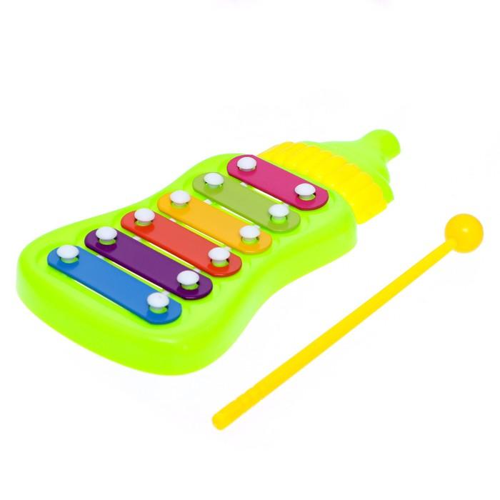 Игрушка музыкальная-металлофон Малышок, цвета МИКС