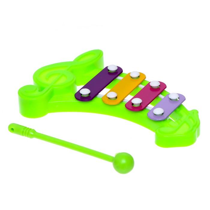 Игрушка музыкальная-металлофон Нотка, цвета МИКС
