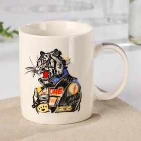 Кружка Доляна «Новый год. Мото-тигр», 280 мл