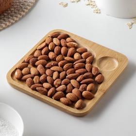 Блюдо для подачи Доляна, 16×16 см, квадратное, бамбук