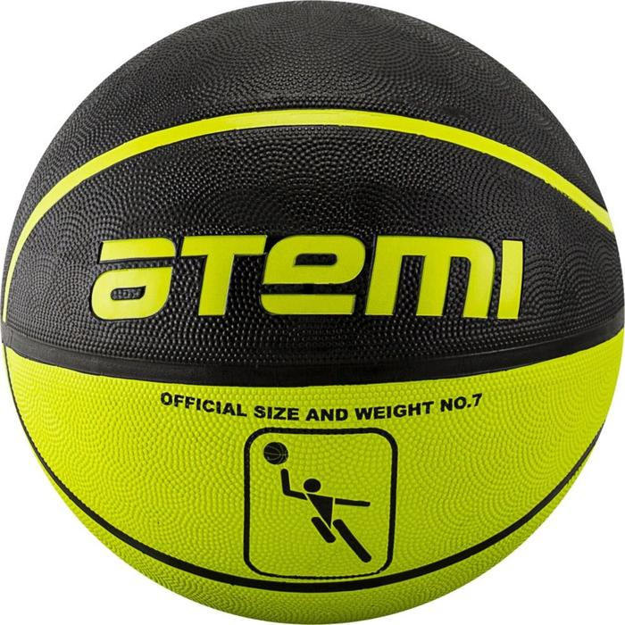 Мяч баскетбольный Atemi BB11, размер 7, резина, 8 полос, окруж 75-78, клееный