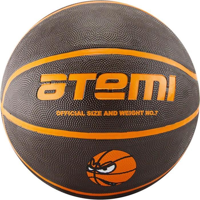 Мяч баскетбольный Atemi BB12, размер 7, резина, 8 полос, окруж 75-78, клееный