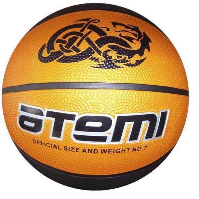 Мяч баскетбольный Atemi BB15, размер 7, резина, 8 полос, окруж 75-78, клееный