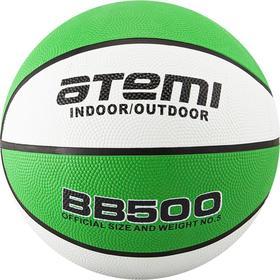 Мяч баскетбольный Atemi BB500, размер 7, резина, 8 панелей, окруж 75-78, клееный Ош