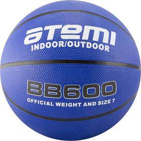 Мяч баскетбольный Atemi BB600, размер 7, резина, 8 панелей, окруж 75-78, клееный Ош