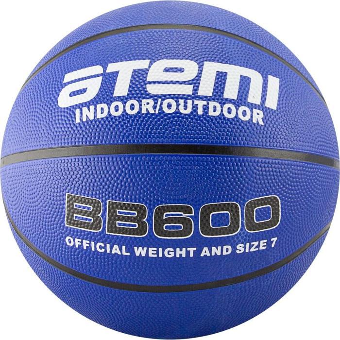 Мяч баскетбольный Atemi BB600, размер 7, резина, 8 панелей, окруж 75-78, клееный