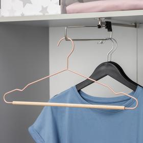 Вешалка для одежды SAVANNA Wood, 41,5×22,5×1 см, цвет розовый