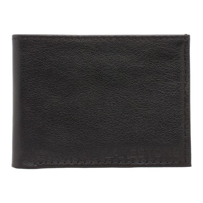 10484 Портмоне Stoke н/к, 2 отдела для карт, 1 отдел для купюр, цвет Черный 8х11х15см