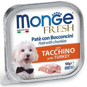Влажный корм Monge Dog Fresh для собак, с индейкой, консервы, 100 г