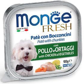 Влажный корм Monge Dog Fresh для собак, с курицей и овощами, консервы, 100 г