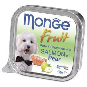 Влажный корм Monge Dog Fruit для собак, лосось/груша, консервы, 100 г