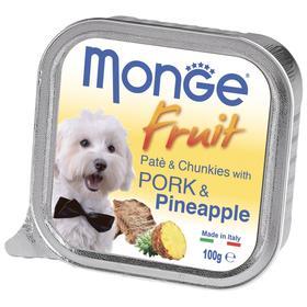 Влажный корм Monge Dog Fruit для собак, свинина/ананас, консервы, 100 г
