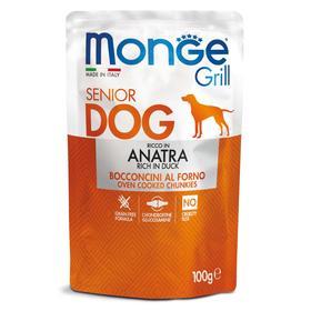 Влажный корм Monge Dog Grill Senior для пожилых собак, утка, пауч, 100 г
