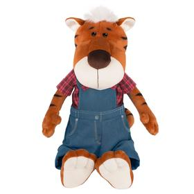 Мягкая игрушка «Тигр Глеб в штанах и клетчатой рубашке», 27 см