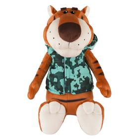 Мягкая игрушка «Тигр Федя в жилетке милитари», 25 см