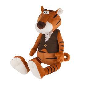 Мягкая игрушка «Тигр Гоша в замшевой жилетке и жабо», 20 см