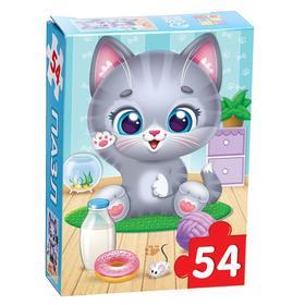 Пазл детский «Радостный котик», 54 элемента